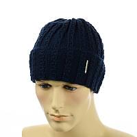 Мужская шапка с отворотом MID темно-синий, фото 1