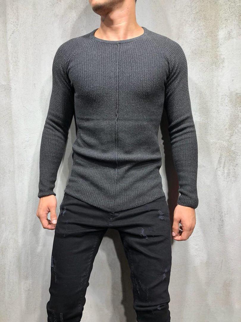 Кардиган - реглан мужской темно-серый