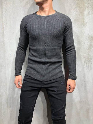 Кардиган - реглан мужской темно-серый, фото 2