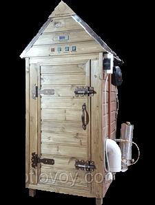 Профессиональная домашняя коптильня холодного и горячего копчения + просушка + конвекция 30 кг/250 л.