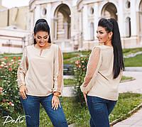 Женская блуза со вставками горох, фото 1