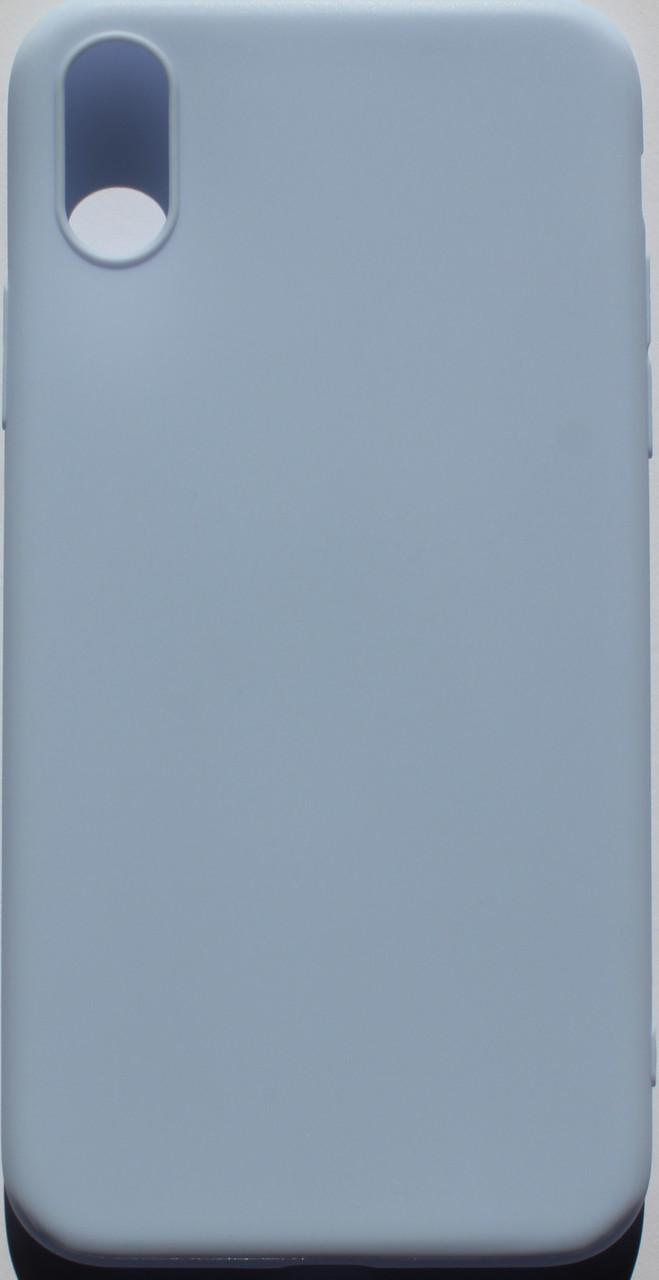 Чехол из тонкого матового TPU для Iphone 10 TPU бело-голубой / чехол на айфон / чохол / ультратонкий / бампер / накладка X / Iphone