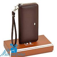 Женский кошелёк с ремешком Sergio Torretti W38 coffee