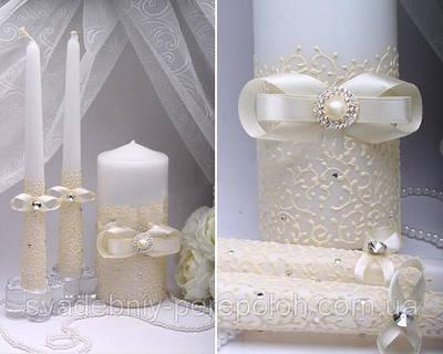 Набори весільних свічок ручної роботи