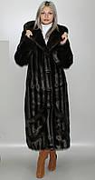 Шуба с капюшоном,коричневая норка 44-46,48-50,52-54,56-58, фото 1