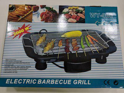 Электро гриль барбекю стейк WY-006.