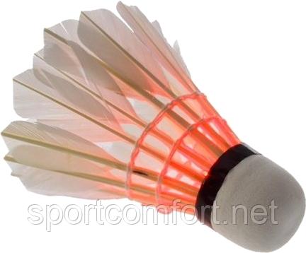 Воланчик светящийся перьевой (утиное перо) белый
