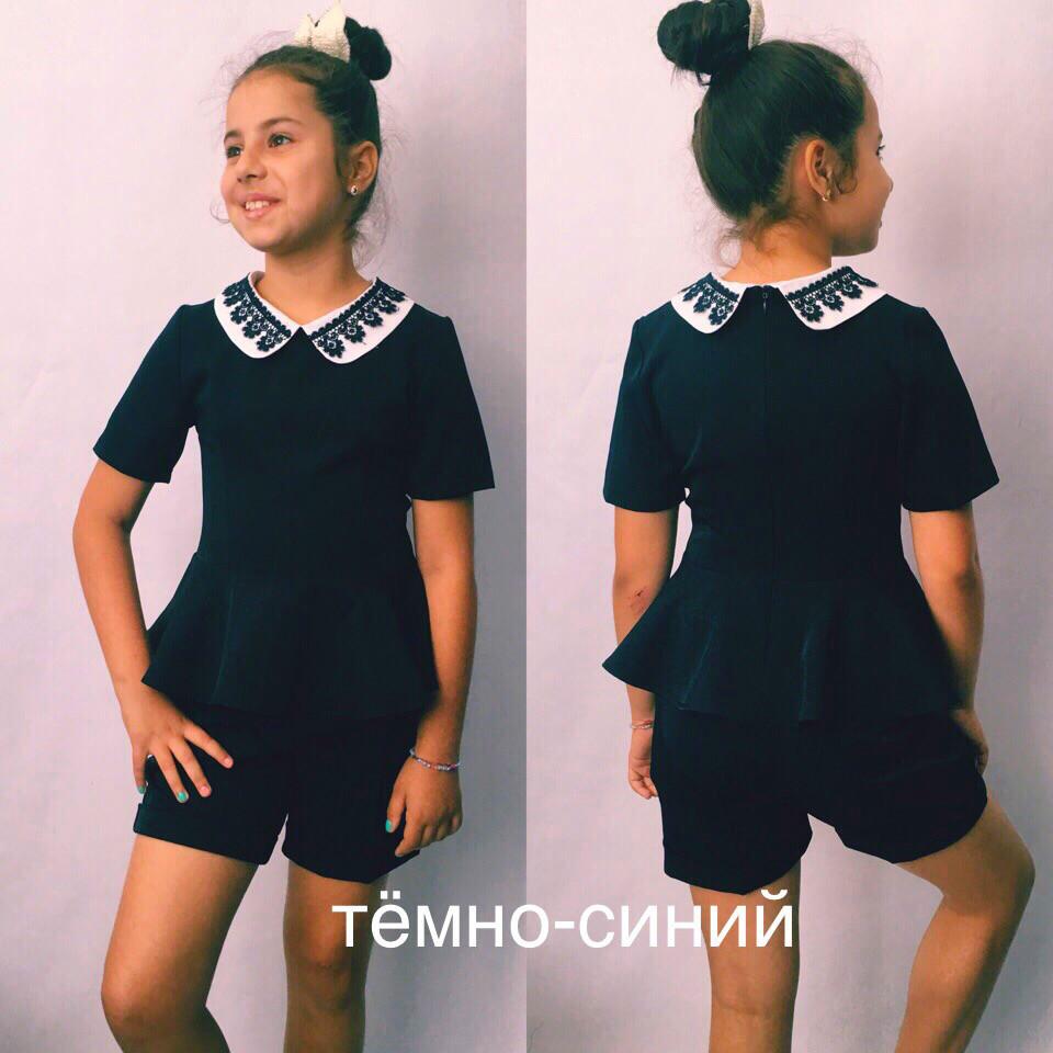 Детский комплект для девочки шорты и блузка  / 2 цвета  арт 6471-442