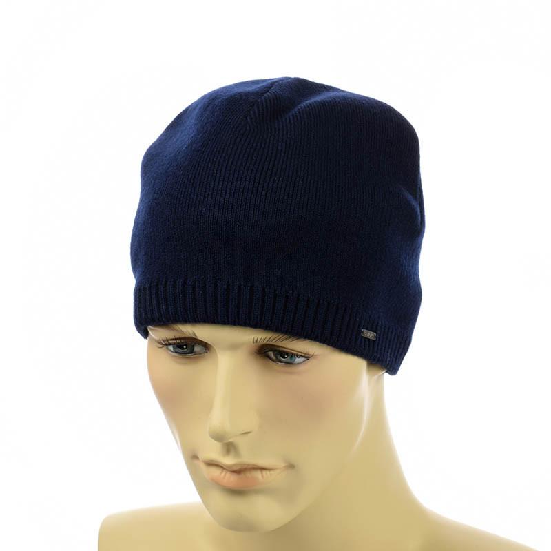 Мужская шапка на флисе Interlok темно-синий