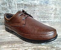 Натуральная кожа! Мужские туфли Gamze коричн. полуспорт полностью из натуральной кожи