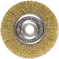 Щітка для КШМ, 100 мм, посадка 22,2 мм, плоска металева//MTX