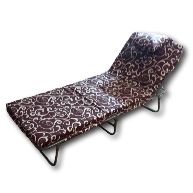 Раскладушка на ремнях (с матрасом и подушкой)