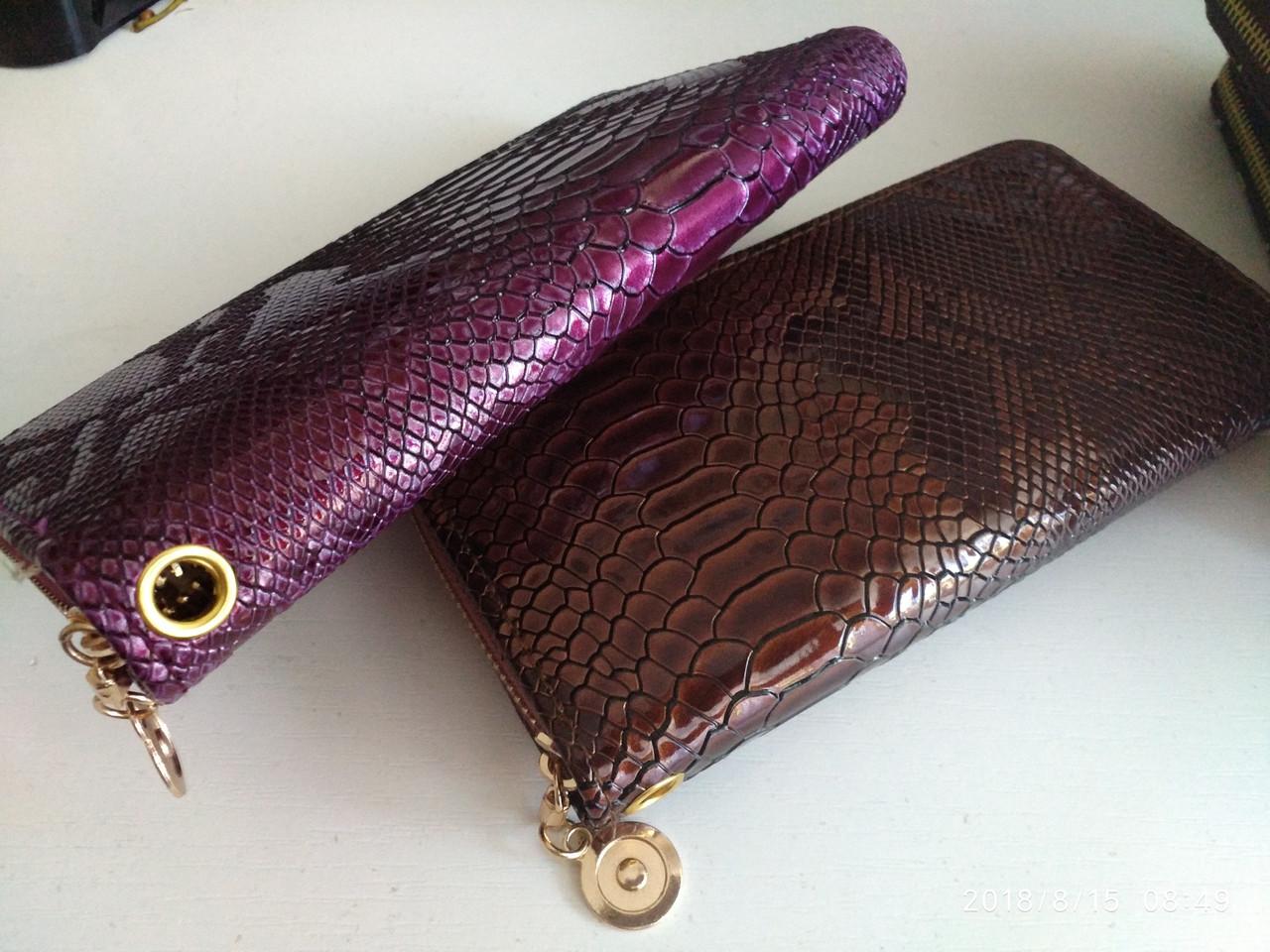 Женский кошелек,цветные варианты женского кошелька кожа питона