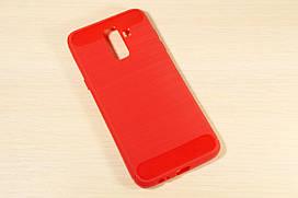 TPU чехол накладка для Samsung J8 2018 (Красный)