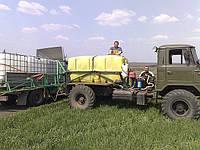 Оказание услуг по обработке с/х. посевов самоходными опрыскивателями и разбрасывателями мин. удоб.