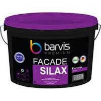 Краска силиконовая Barvis Premium Facade Silax премиум для фасадных работ Белая 10 литров