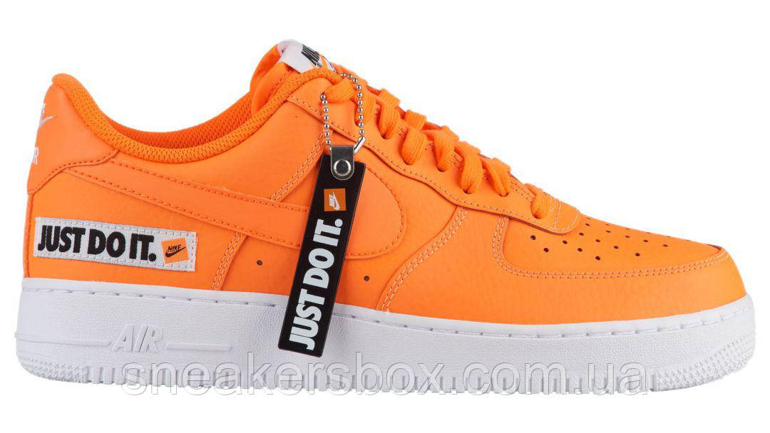 339f0f3821a6 Оригинальные кроссовки Nike Air Force 1 07 LV8 Orange Just Do It Pack ( BQ5360-
