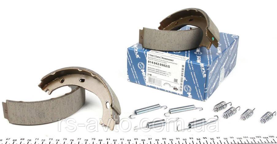 Колодки ручника MB Mercedes Sprinter, Мерседес Спринтер (901-903) 95-06 , Volkswagen LT, Фольксваген LT II 96-06 (с пружиной) 014 042 0502/S, фото 2