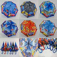 """Зонтик детский трость для мальчика оптом с рисунком """"cars 3"""" на 4-8 лет то фирмы """"Max"""", фото 1"""