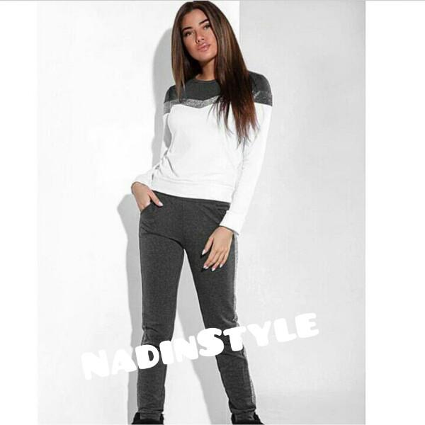 ddd0f7897ae Спортивный костюм женский штаны и кофта с люрексом 42 - Интернет-магазин