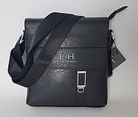 Мужская сумка через плечо черного цвета