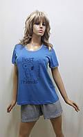 Пижама женская футболка и шорты хлопок 245, фото 1