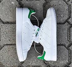 Женские и мужские кроссовки Adidas Stan Smith White Green, фото 3