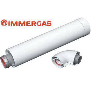 Immergas коаксиальный удлинитель 60/100 1 м для газовых котлов (+ угол 90С), фото 2