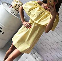 Летнее хлопковое платье с воланом Сирень, фото 3