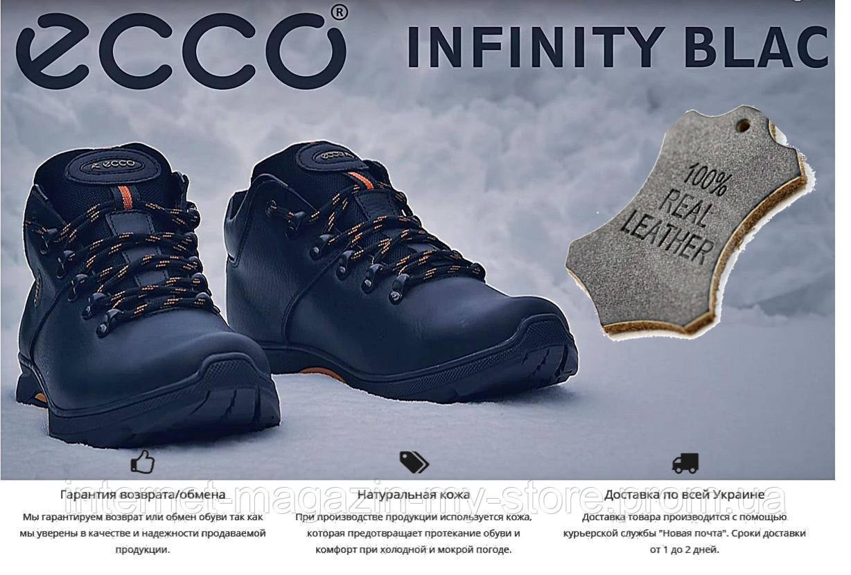 fc0f924e7 Мужские зимние кожаные ботинки Ecco Infinity - Магазин обуви MyStore в  Харькове