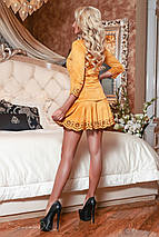 Горчичное замшевое платье с перфорацией (2063 svt), фото 3