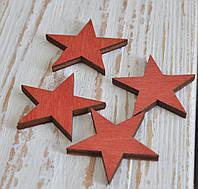 Звездочки новогодние красные 4 шт