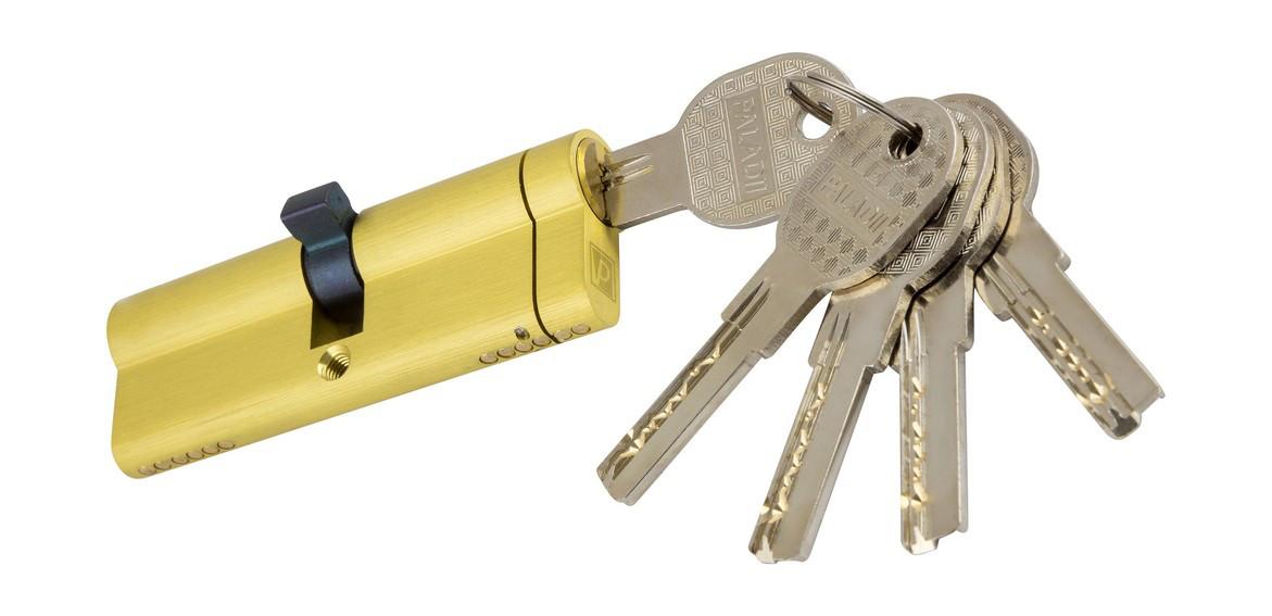 PALADII SP цилиндр 90мм (45*45) SB желтый 5 лазерных ключей