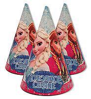 Ковпачки святкові дитячі для дня народження Холодне серце 10 шт