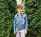 Джинсовая куртка для мальчика с трикотажным капюшоном, фото 3