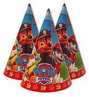 Ковпачки святкові дитячі паперові для дня народження Дитячого Патруль