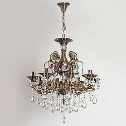 Люстра хрустальная для зала, большой комнаты, 8-ми ламповая