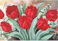 СКВ-179. Схема для вишивки бісером Червоні тюльпани