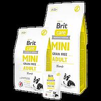 Сухой корм для взрослых собак мелких пород Brit Care GF Mini Adult Lamb 0,4 кг