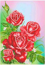 СКВ-182. Схема для вишивки бісером Червоні троянди