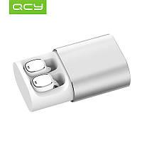 QCY T1 Pro Bluetooth 4.2 Silver and White -  легкие и компактные беспроводные музыкальные наушники ipx4