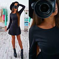 Короткое платье с юбкой колоколом Черный