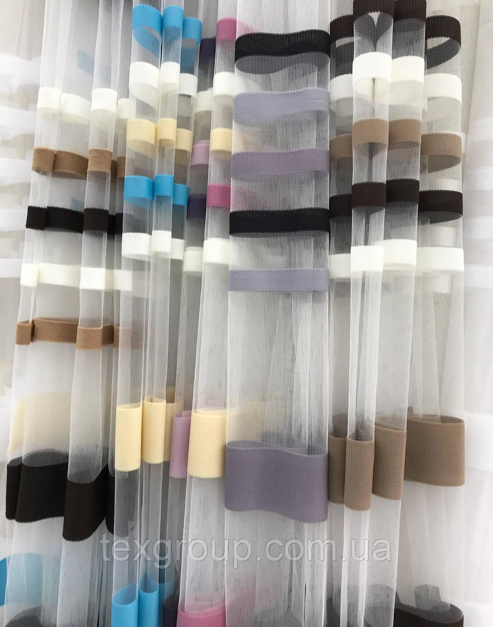 Фатиновая тюль ZAMBAK цветная полоска