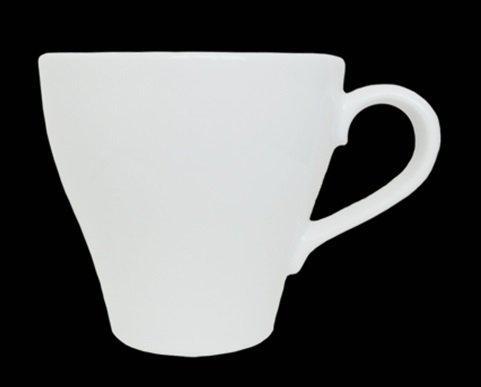 Чашка 240 мл. фарфоровая, белая FARN (блюдце 32573)