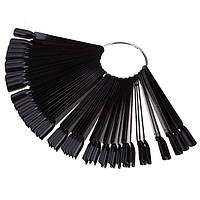 Палитра черная на кольце веер 50шт