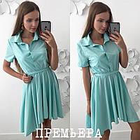 86b0db669f8 Женское платье с ассиметричной юбкой в расцветках. ПР-12-0818