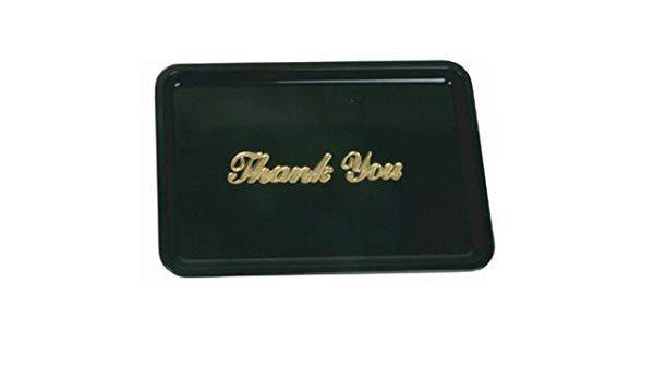 Подставка для счета, пластик, цвет чёрный, золотая надпись, 11х16 см