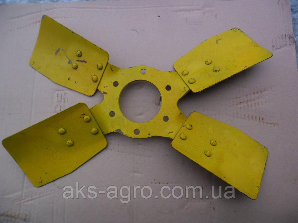 Крыльчатка вентилятора металлическая 4 лопастей МТЗ