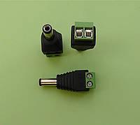 Штекер питания 5.5-2.1 на кабель, с клеммной колодкой