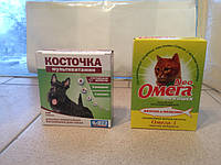 Подарочный набор Омега витамины для собак (биотин, морская капуста, протеин) + Косточка витамины для собак